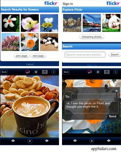 Flickr Ajax Alpha Screenshots
