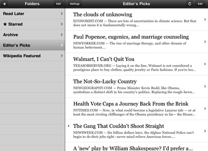 Instapaper Pro iPad version