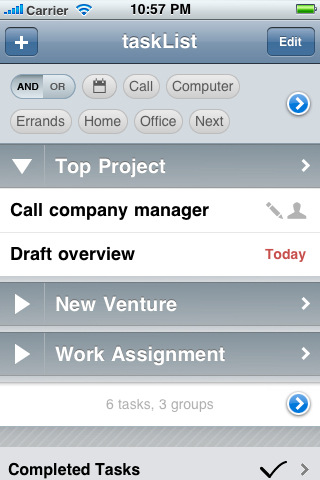 taskList, a nice to-do manager