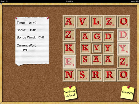 Wordulator on the iPad
