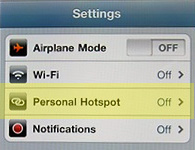 Verizon iPhone Personal HotSpot