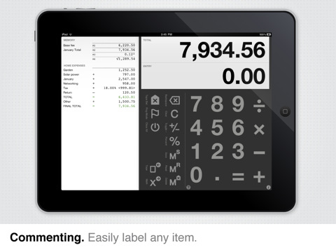 Digits Calculator for iPad + iPhone