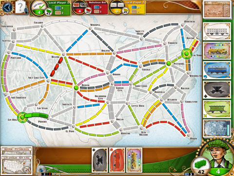 Ticket to Ride iPad game