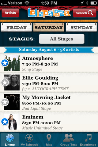 Lollapalooza Official iPhone App