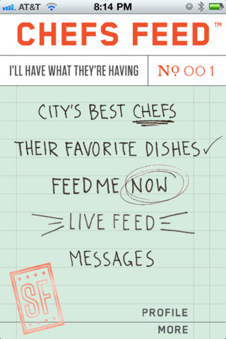 Chefs Feed iPhone app review