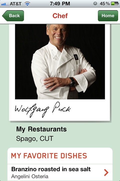 Chefs Feed iPhone app