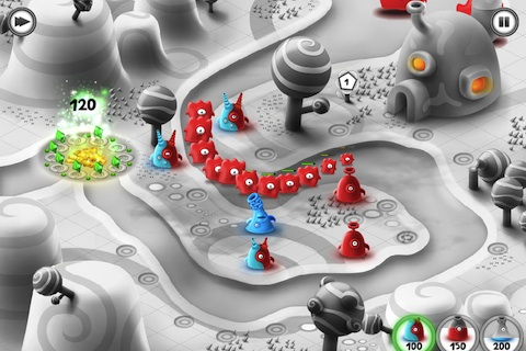 Jelly Defense game on iPhone