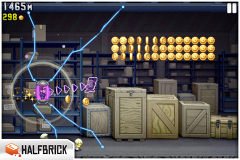 Jetpack Joyride iPhone and iPad game