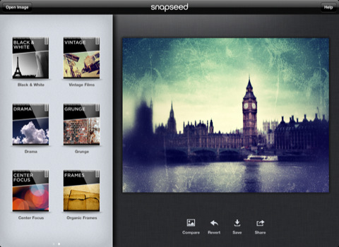 Snapseed for iPhone and iPad