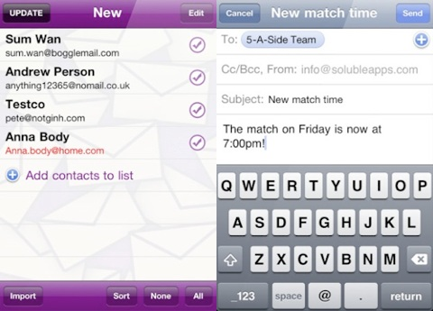 MailShot - Group Email Done Right - iPhone app