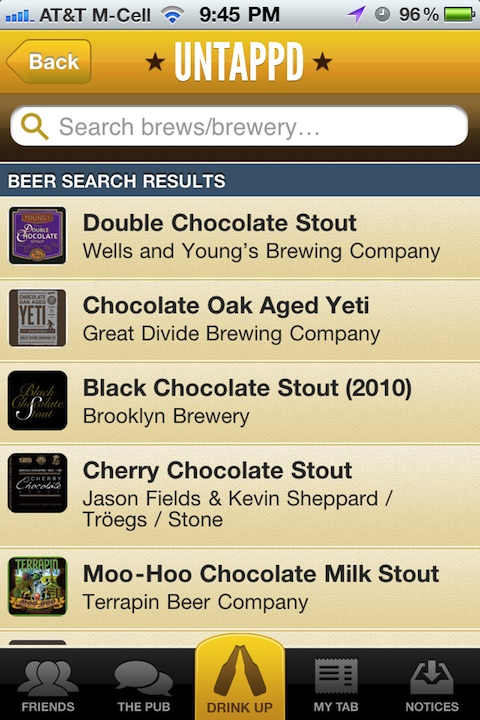 Untappd iPhone app