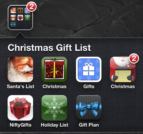 Christmas Gift Shopping List iPhone apps