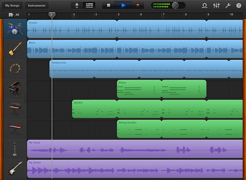 GarageBand for iPad recording