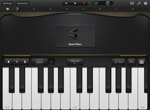 GarageBand for iPad Grand Piano
