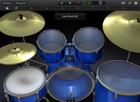 GarageBand app for iPad Drums