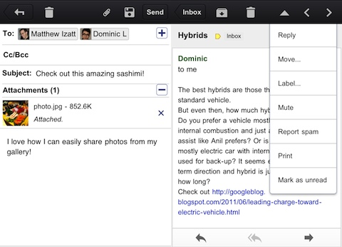 Gmail for iPhone and iPad app review