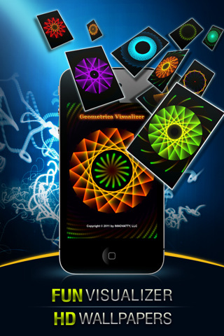 Free Visualizer of Geometrica - Wallpapers, Fireworks, Glow and Art