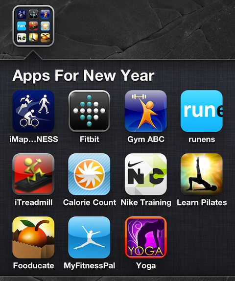 New Year's Resolution iPhone Apps for 2012