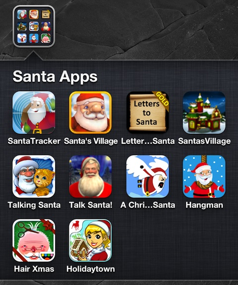 Santa iPhone Apps for the Holidays