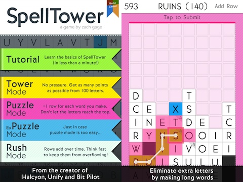 SpellTower iPad app review