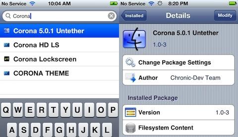 Corona iOS 5.0.1 Untethered Jailbreak