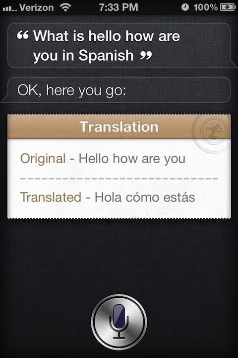 Lingual tweak for Siri