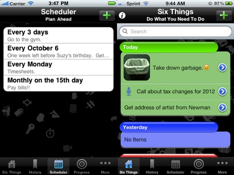 Six Things iPhone app review