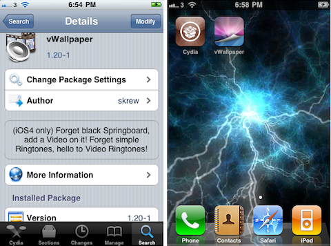 vWallpaper jailbreak iPhone app review