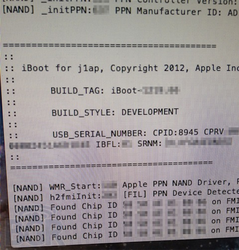 iPad 3 kernel screenshot