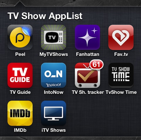 iPhone Apps for TV Shows
