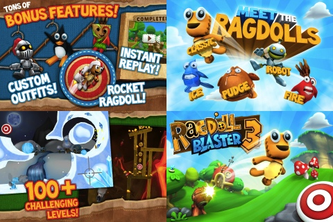 Ragdoll Blaster 3 iPhone game review