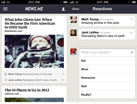 News.me for iPhone app review