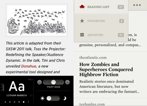 Readability iPhone app review