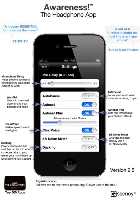 Awareness! The Headphone App iPhone review