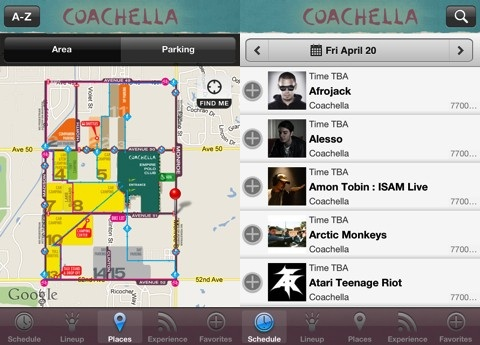 Coachella iPhone app review