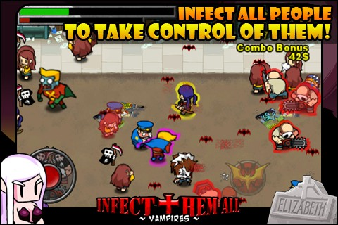 Infect Them All : Vampires iPhone game review