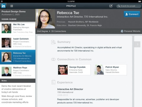 LinkedIn iPad app review