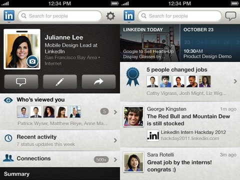 LinkedIn iPhone app review