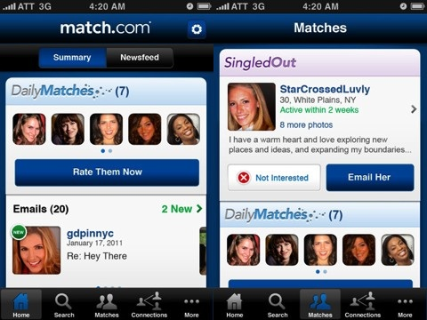 match.com iphone app