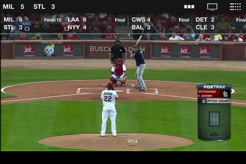 MLB.com At Bat iPad video