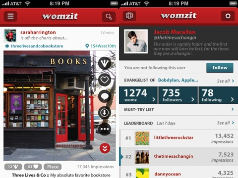 Womzit iPhone app review