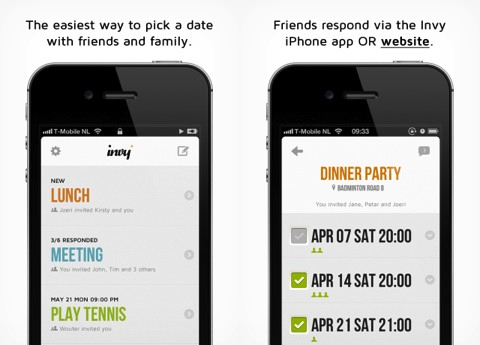 Invy - Event planner iPhone app review