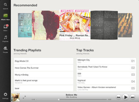 Spotify for iPad app review
