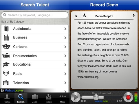 Voices.com iPhone app review