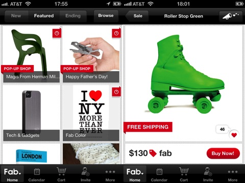 Fab.com iPhone app review