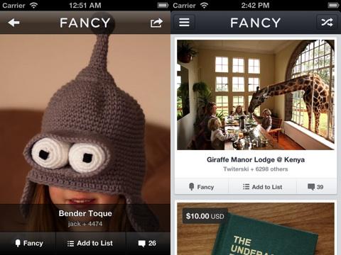 Fancy iPhone app review