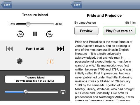 Audiobooks Premium iPhone app review