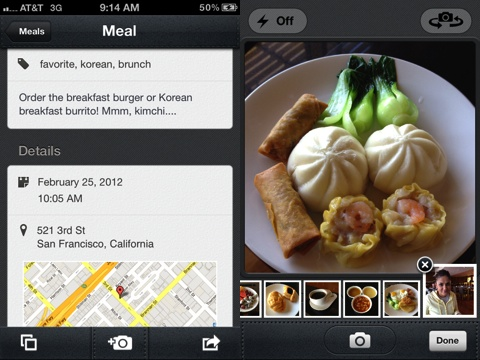 Evernote Food iPhone app review