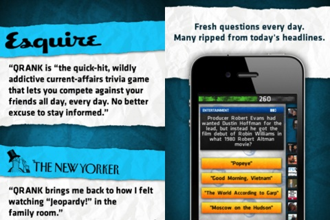 QRANK Trivia iPhone app review