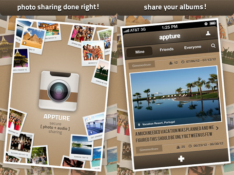 Appture Secure Photos Audio iPhone App